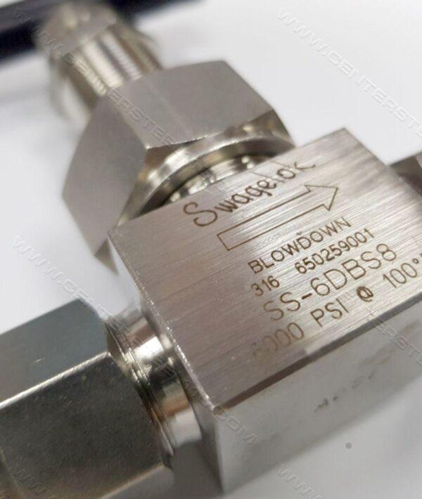 Needle Valve Swagelok usa ss-6dbs8 instrument , شیر سوزنی ، نیدل ولو سوییجلاک blowdown swagelok